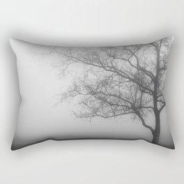 Tree in Fog Rectangular Pillow