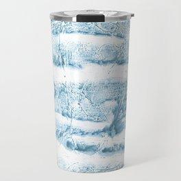 Blue marble streaked wash drawing Travel Mug