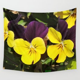 The Pansies at the Corner Wall Tapestry