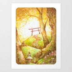 Babu at the Torii Art Print