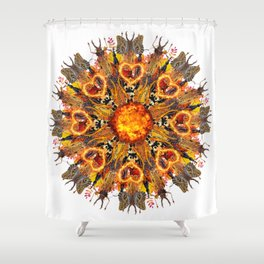 horrible insects mandala Shower Curtain