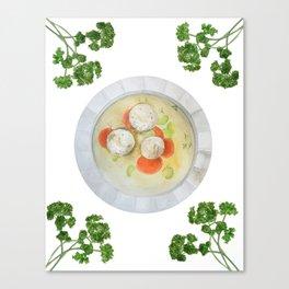 Passover Matzo Ball Soup (white) Canvas Print
