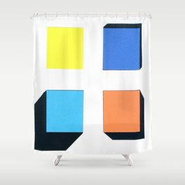Squares in cross Shower Curtain