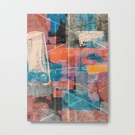 2020: A vibrant abstract piece in various colors by Alyssa Hamilton Art  Metal Print