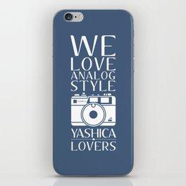 """We Love Analog"" iPhone Skin"