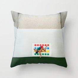 """""""Twisted Sister"""" Throw Pillow"""