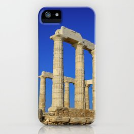 Temple of Poseidon in Sounion near Athens (Greece) iPhone Case