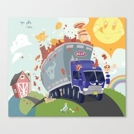 Merry Meat Mobile Canvas Print