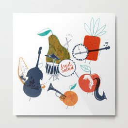 Fruit Jazzband Metal Print