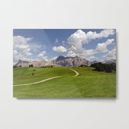 Alpine Meadow Valley Landscape Metal Print