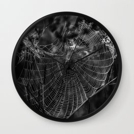Morning Dew On Spiders Home Wall Clock