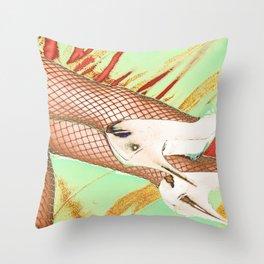 Fishnet Pop Art Throw Pillow