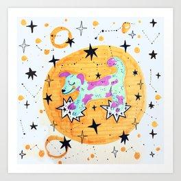 dog - chinese horoscope Art Print