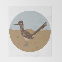 Greater Roadrunner Throw Blanket