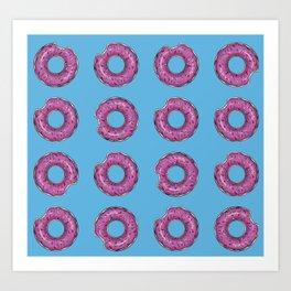 Bitten donut Art Print