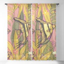 Angel Fish #3 Sheer Curtain