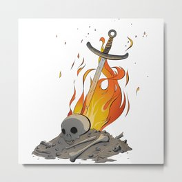A Distinguished Fire Metal Print