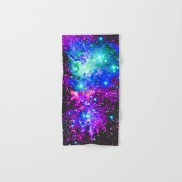 Fox Fur Nebula Galaxy Pink Purple Blue Hand & Bath Towel