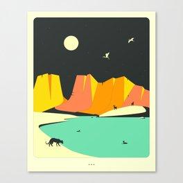 Minimal Landscape 29 (Nightlife) Canvas Print
