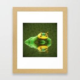 Pond skater Framed Art Print