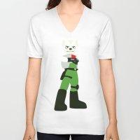 starfox V-neck T-shirts featuring Starfox - Minimalist - Nintendo by Adrian Mentus