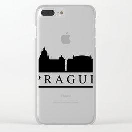 skyline prague Clear iPhone Case