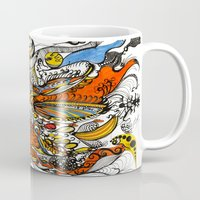 paisley Mugs featuring Paisley by Colette Buscemi