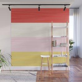 Brush Stroke Stripes: Strawberry Shortcake Wall Mural