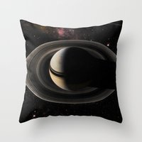 saturn Throw Pillows featuring SATURN by Alexander Pohl