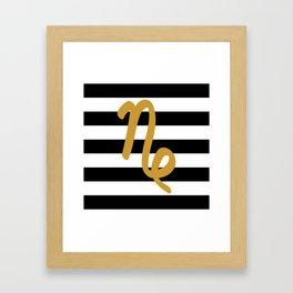 Capricorn Stripes Framed Art Print