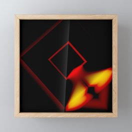 Abstract Art Design - Fire Framed Mini Art Print