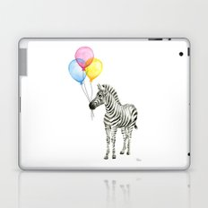 Zebra with Balloons Watercolor Baby Animals Laptop & iPad Skin