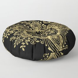 Sea shell - Gold Floor Pillow