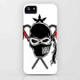 Cartoon Ninja zombie Face iPhone Case