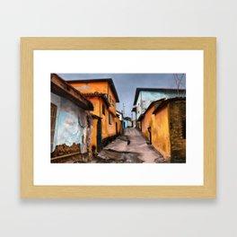 Water-Stained Alley Framed Art Print