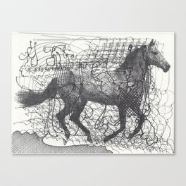 Horse Supercluster Canvas Print