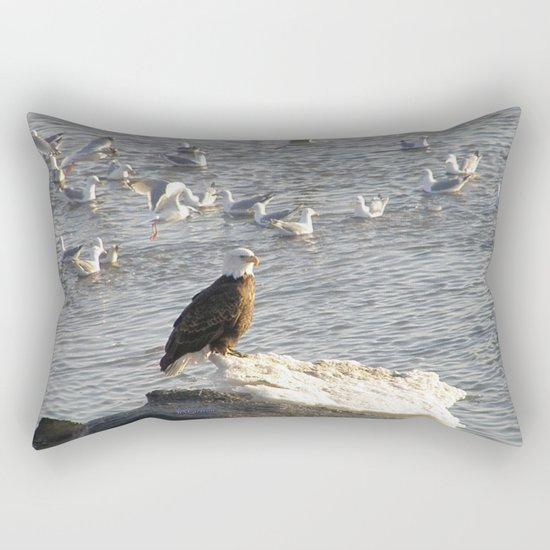 Eagle on Ice Rectangular Pillow