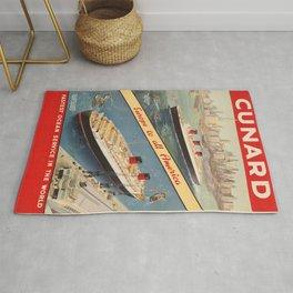 Vintage poster - Cunard Rug