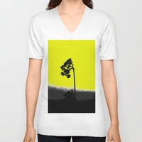 lonely V-neck T-shirts featuring lonely  by Nikos