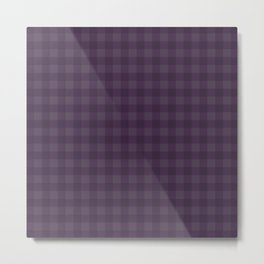 Gingham Pattern - Fig Metal Print