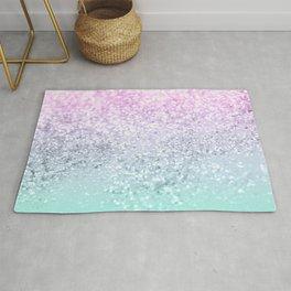Mermaid Girls Glitter #1 (2019 Pastel Version) #shiny #decor #art #society6 Rug