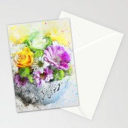 Flowers Vase Artwork Stationery Cards