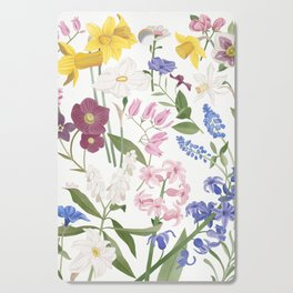 Spring Flowers Cutting Board