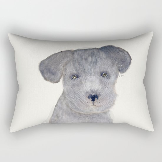 little schnauzer Rectangular Pillow