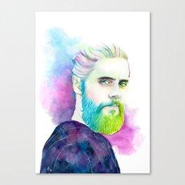 Monolith   Colourful Jared Leto Canvas Print