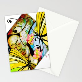 Cabsink16DesignerPatternWBF Stationery Cards