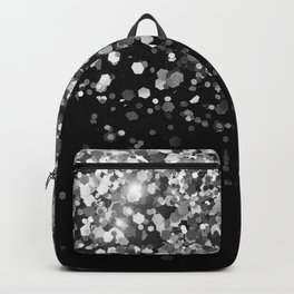 Silver Gray Black Glitter #3 (Faux Glitter - Photography) #shiny #decor #art #society6 Backpack