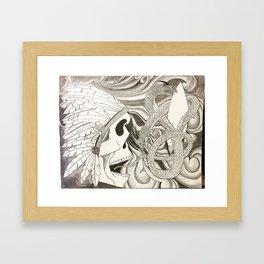 Native Skull Framed Art Print