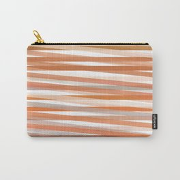 Fall Orange brown Neutral stripes Minimalist Carry-All Pouch