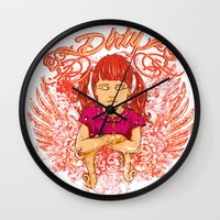 dirty dancing Wall Clocks featuring Dirty by Tshirt-Factory